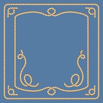 Conjunto de quadros de vetor de cordas náuticas