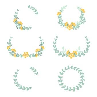 Conjunto de quadros florais delicados fofos