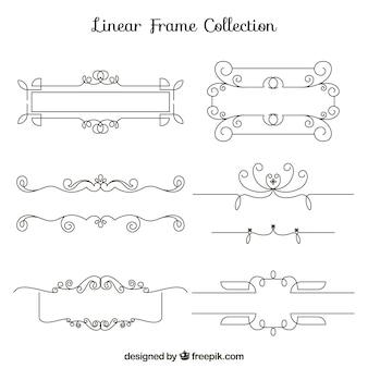 Conjunto de quadros lineares com ornamentos