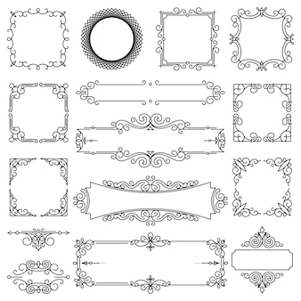 Conjunto de quadros lineares na moda de vetor