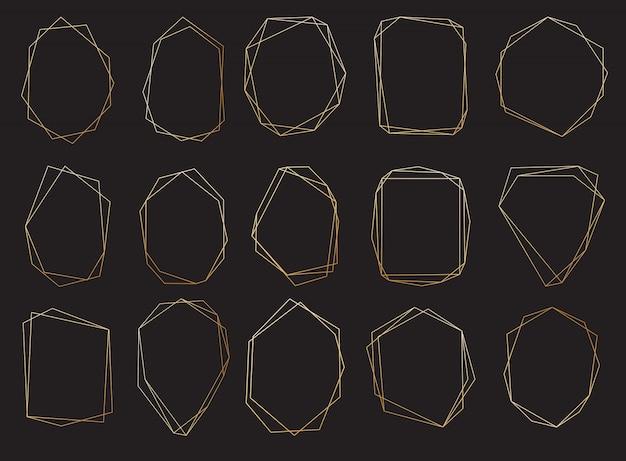 Conjunto de quadros poligonais