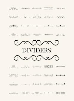 Conjunto de quarenta divisores elegantes e letras