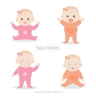 Conjunto de quatro bebês