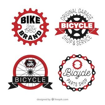 Conjunto de quatro logotipos de bicicleta