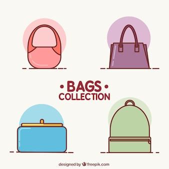 Conjunto de quatro sacos minimalistas