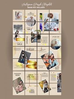 Conjunto de quebra-cabeça de moda instagram