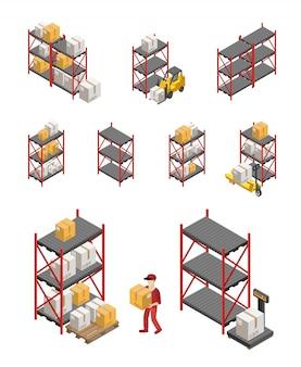 Conjunto de racks de armazenamento
