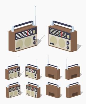 Conjunto de rádio retrô.