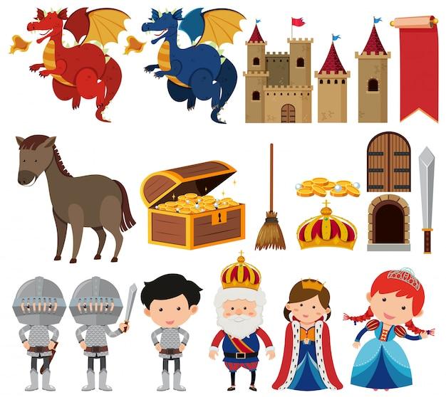 Conjunto de rainha de fantasia e conjunto de rei
