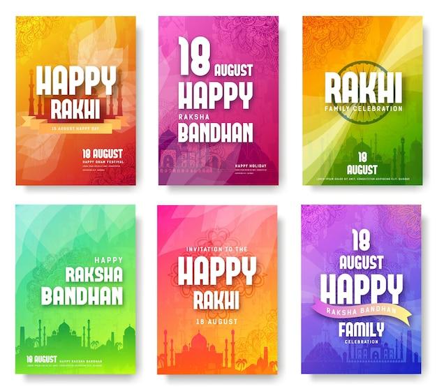 Conjunto de rakhi indiano em inglês traduz o ornamento do festival