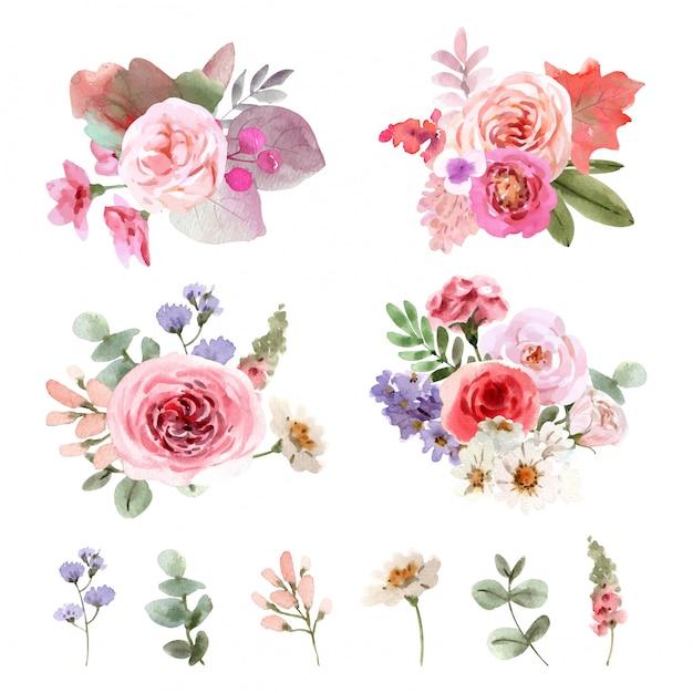 Conjunto de ramo floral