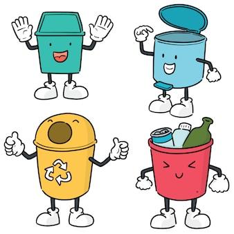 Conjunto de reciclagem de lixo