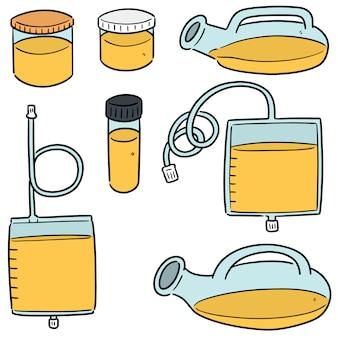Conjunto de recipiente de armazenamento de urina