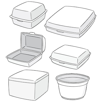 Conjunto de recipiente de espuma