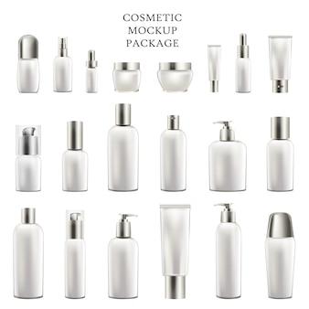 Conjunto de recipientes vazios para corpo e rosto cosméticos