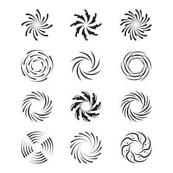 Conjunto de redemoinhos giratórios