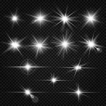 Conjunto de reflexos de lente cintilante