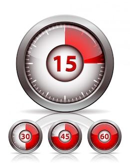 Conjunto de relógio temporizador