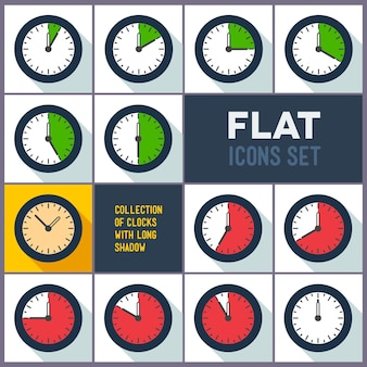 Conjunto de relógios com intervalo de 10 minutos