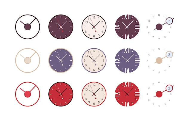 Conjunto de relógios de parede modernos
