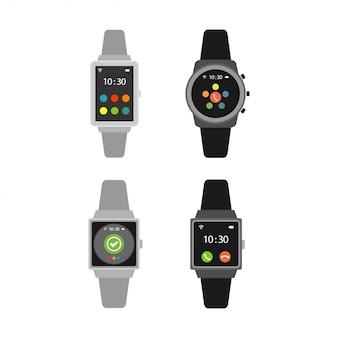 Conjunto de relógios inteligentes