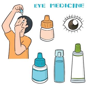 Conjunto de remédio para os olhos