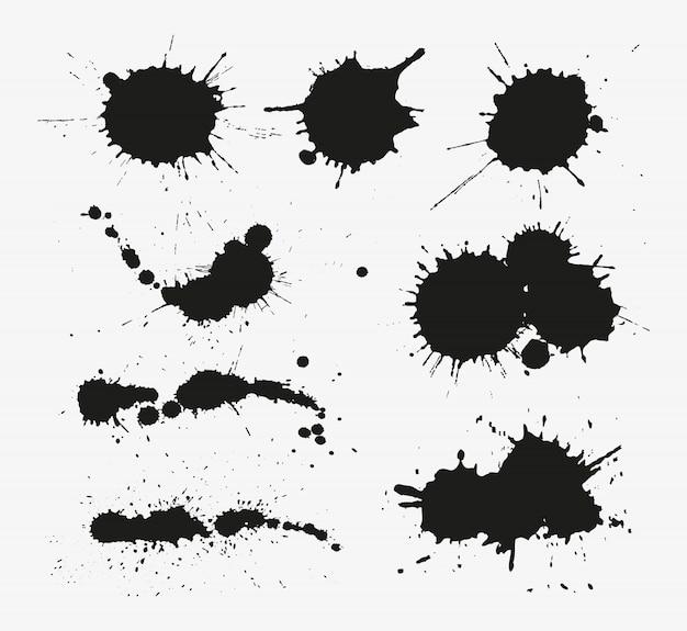 Conjunto de respingos de tinta