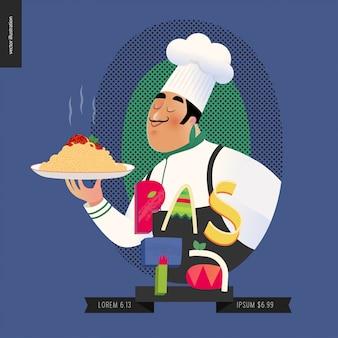 Conjunto de restaurante italiano