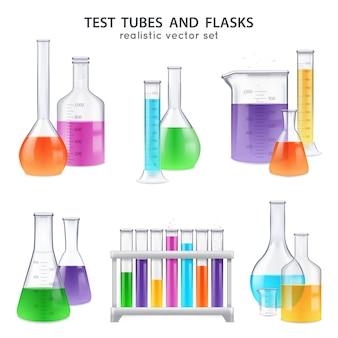 Conjunto de retortas de tubos de ensaio realistas