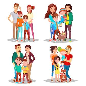 Conjunto de retrato de família