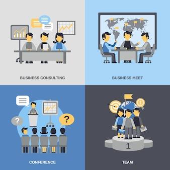 Conjunto de reuniões planas