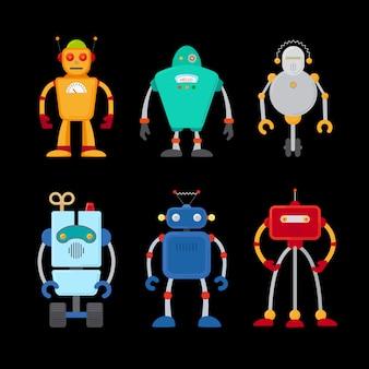 Conjunto de robô retrô