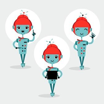 Conjunto de robôs femininos
