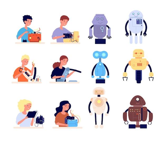 Conjunto de robótica para crianças