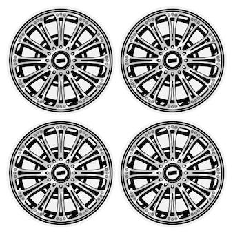 Conjunto de rodas de pneus