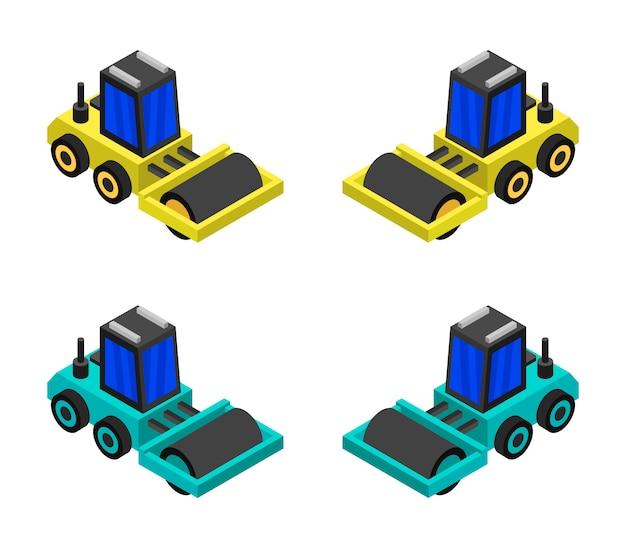 Conjunto de rolo-compactador isométrico