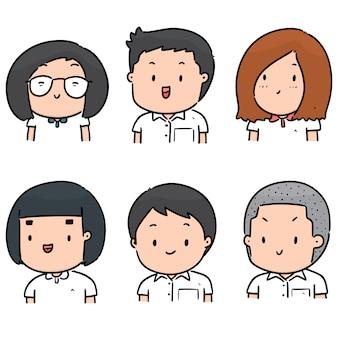 Conjunto de rosto de estudante