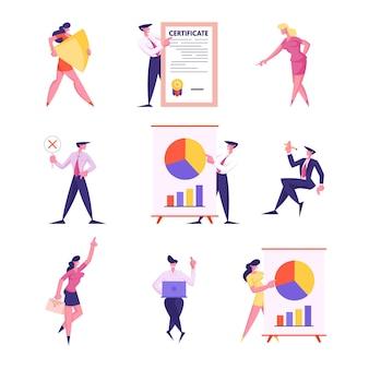 Conjunto de rotina e processo de trabalho do escritório de empresários