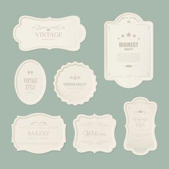 Conjunto de rótulo premium para estilo vintage design.
