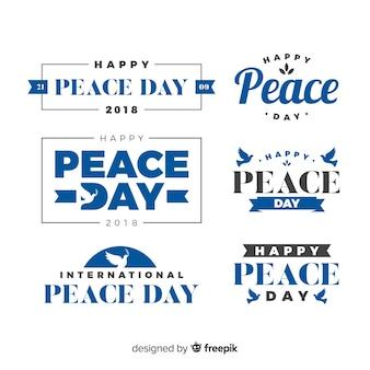 Conjunto de rótulos de dia de paz