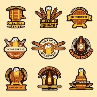 Conjunto de rótulos de festival de cerveja