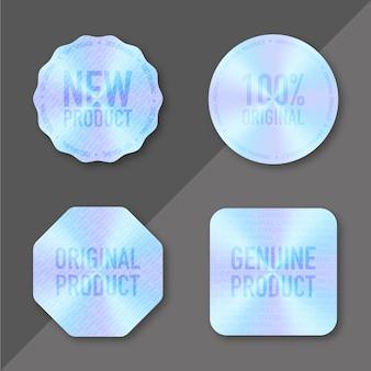Conjunto de rótulos de holograma isolado