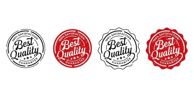 Conjunto de rótulos de produtos de melhor qualidade