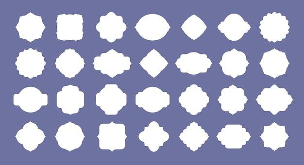Conjunto de rótulos de quadros