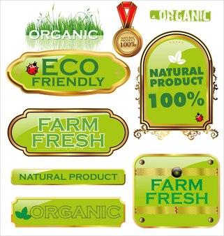 Conjunto de rótulos orgânicos