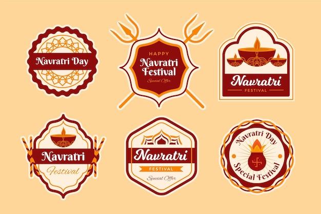 Conjunto de rótulos tradicionais navratri