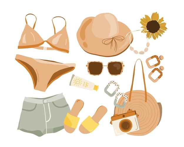 Conjunto de roupa boho verão.