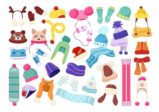 Conjunto de roupa de inverno infantil
