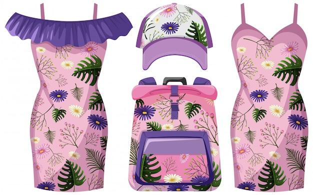 Conjunto de roupa floral