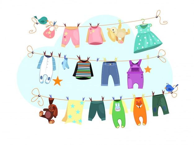 Conjunto de roupas de bebê